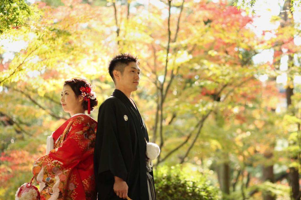 【#farnyレポ】縮景園での前撮りは広島出身のふたりが、広島の木・もみじと一緒の撮る前撮り!