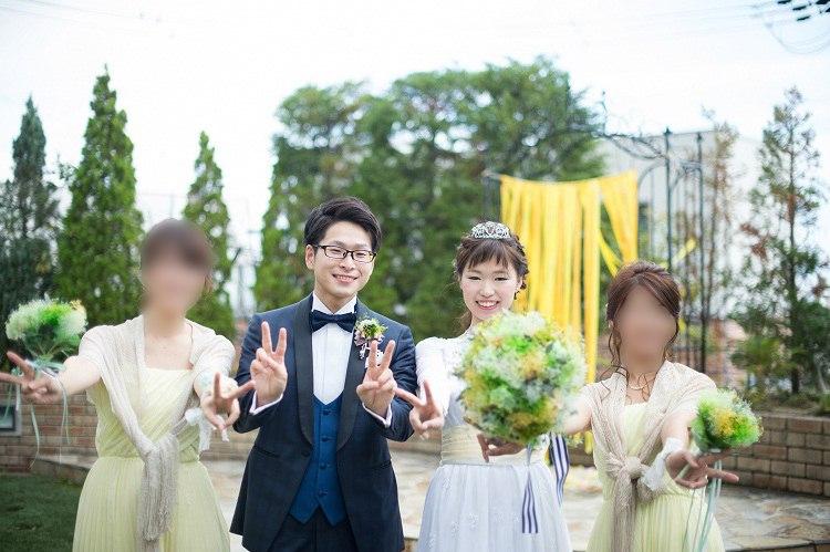 結婚式での会場装花