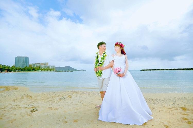ハワイ,新婚旅行