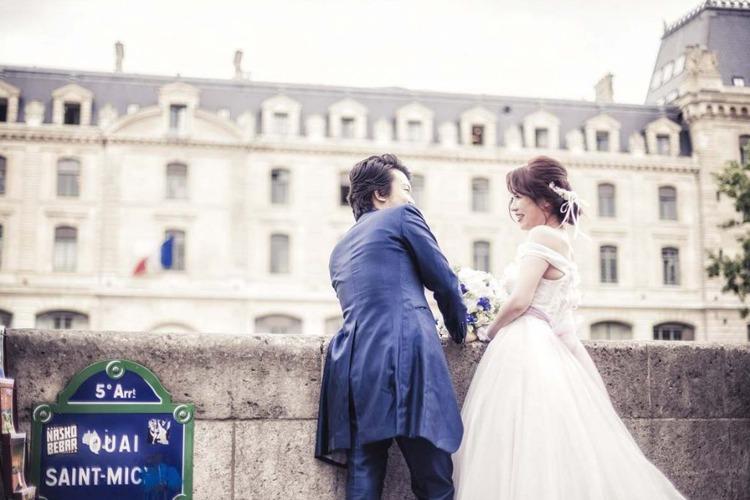 前撮り,パリ