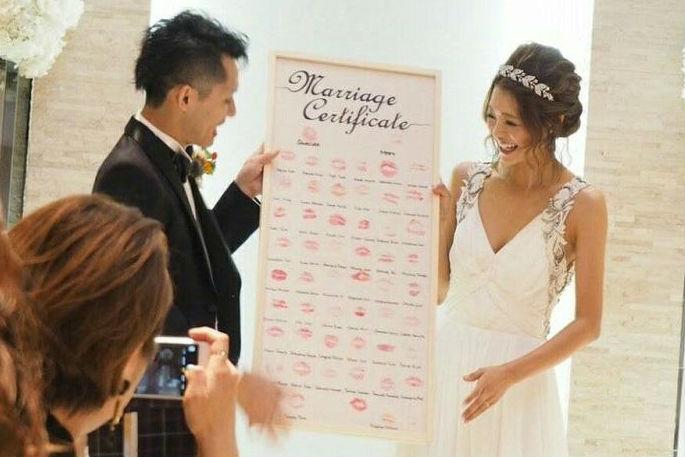 人前式,演出,面白い,ちょっと変わった結婚証明書をゲストにお披露目