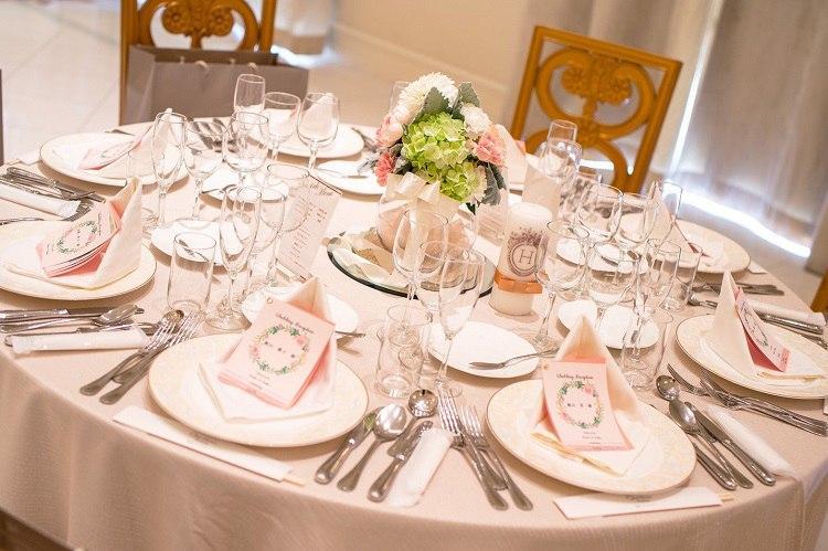 結婚式、テーブルコーディネート