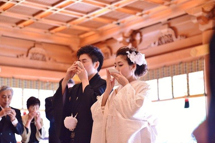 和婚らしく三々九の儀式を行いました