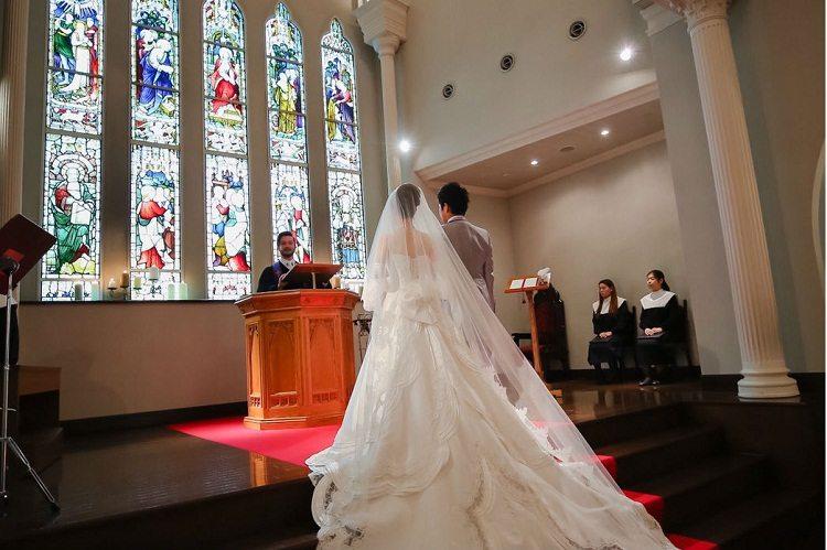 圧巻な大聖堂での挙式は牧師さんからのお言葉に感動しました
