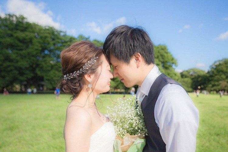 結婚式,前撮り,セルフフォト,代々木公園