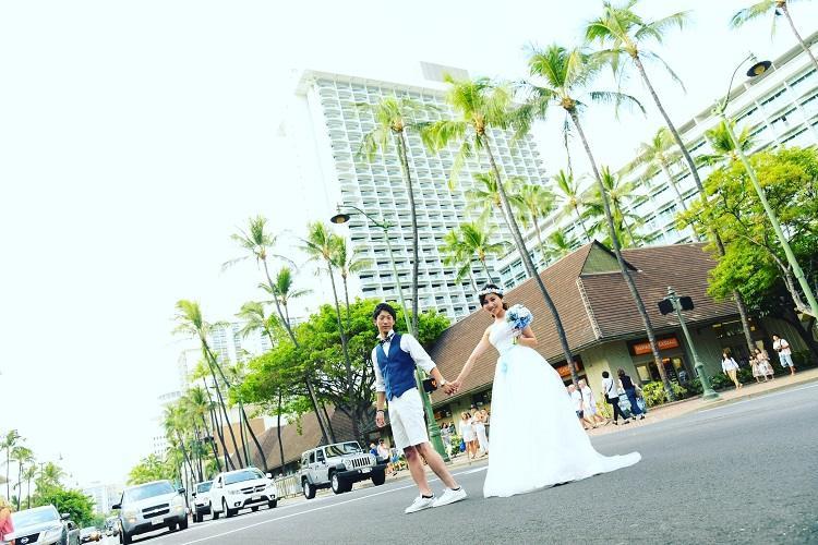 ワイキキタウンでハワイの雰囲気が伝わるショット!