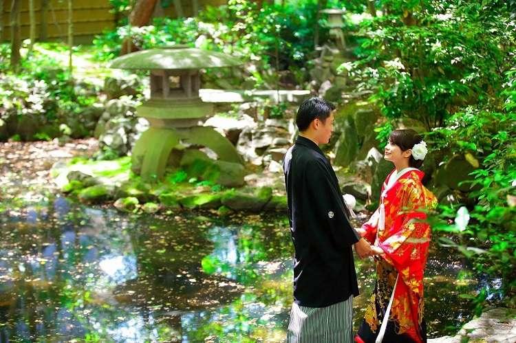仙台・緑水庵で和装前撮り