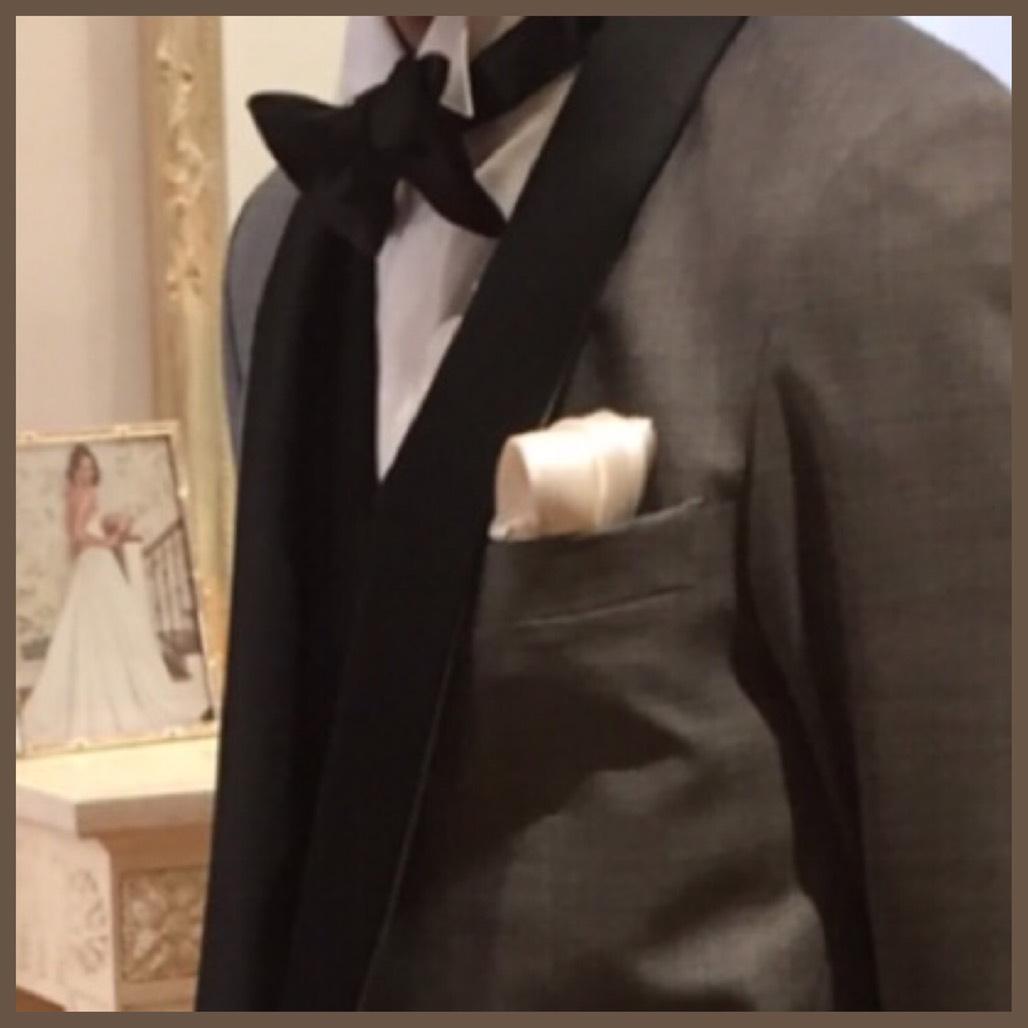 79e7cfeb8f7d6 トリートドレッシングでドレス試着をしてからすっかりドレス迷子になっていた時に新郎様の衣装の試着は如何ですか? っと言われ試着しに行きました。